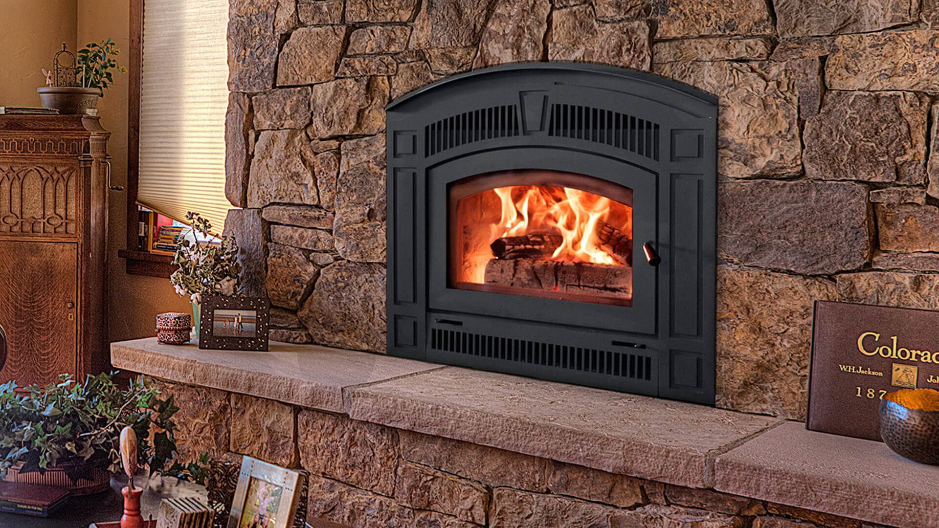 Peachy Wood Fireplaces Archives Cedar Hearth Mick Gage Plumbing Home Interior And Landscaping Ologienasavecom